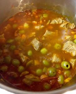 Sauté de veau aux olives et ses vols au vent