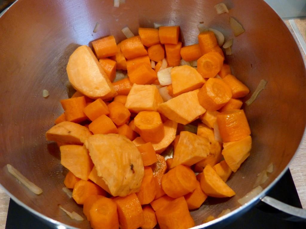 Soupe de carotte & patate douce