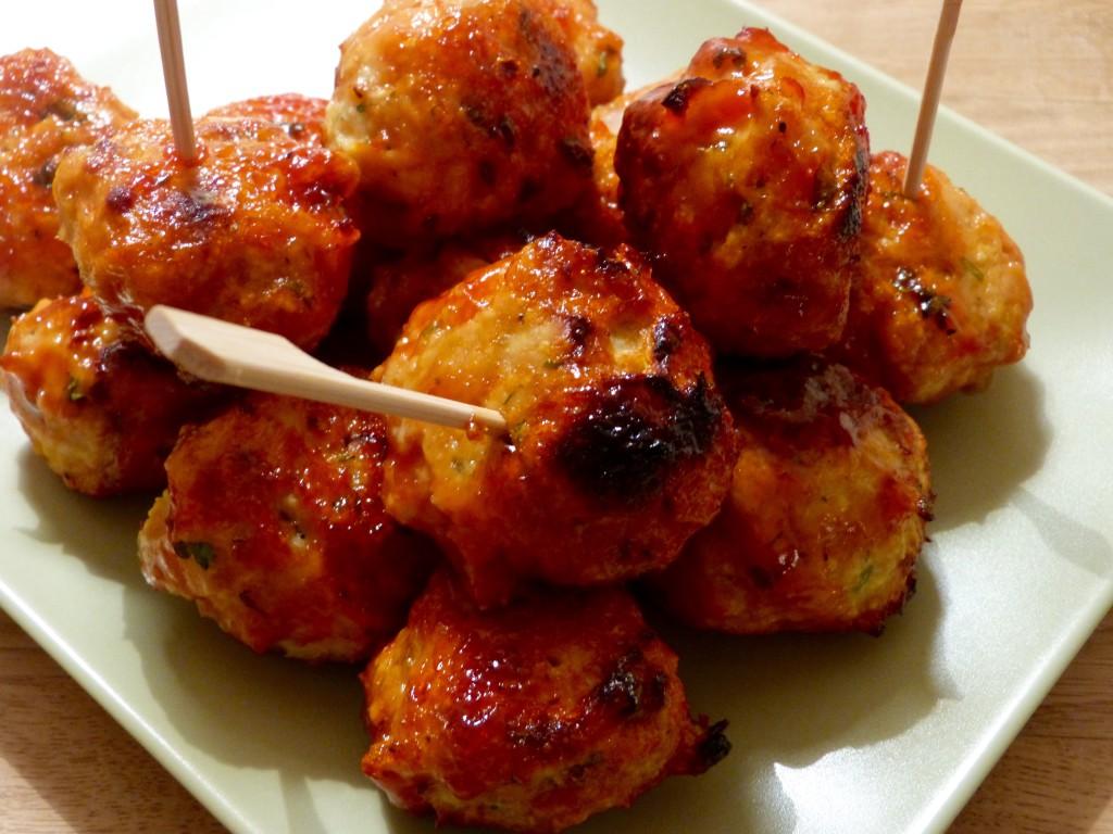 Boulettes de poulet aigre douce