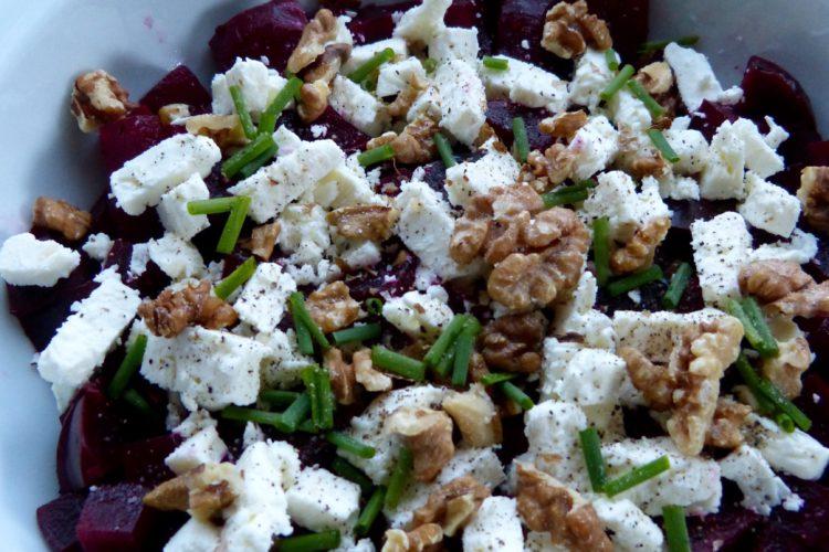 Salade de betterave, feta et noix (GF)