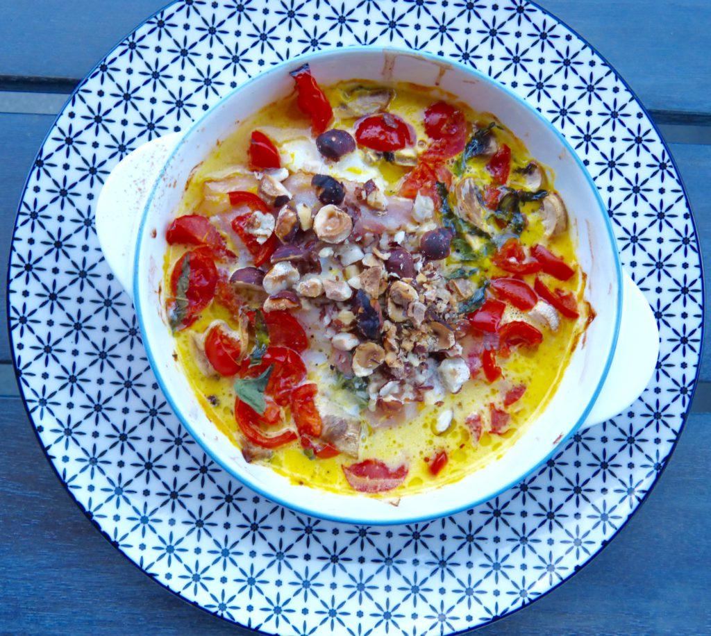 Cabillaud rôti au jus d'agrumes et noisettes (GF)