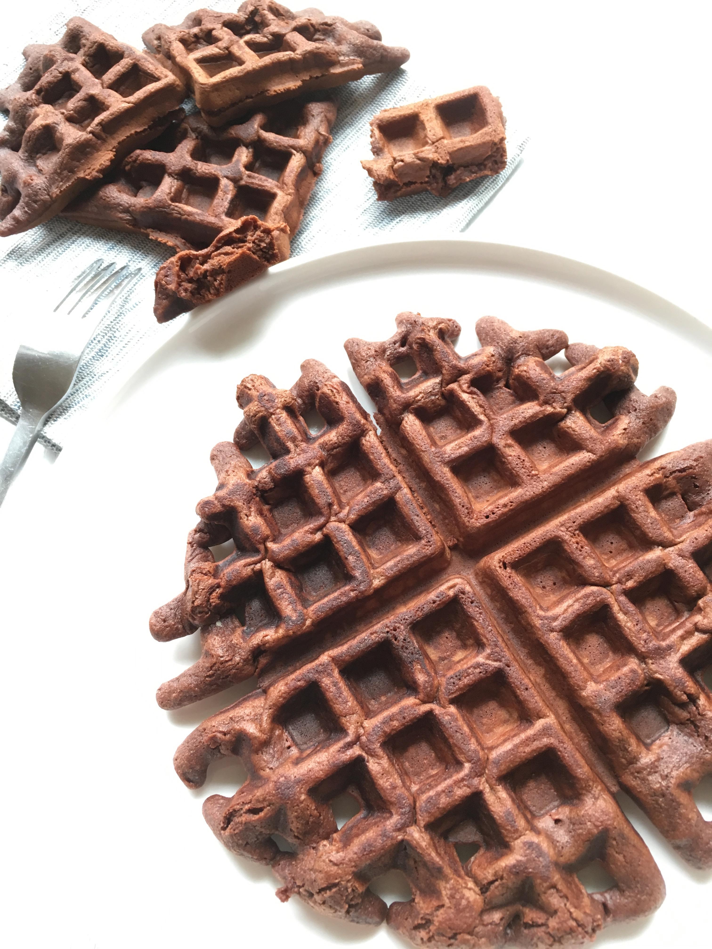gaufres au brownie sans beurre un petit oiseau dans la. Black Bedroom Furniture Sets. Home Design Ideas